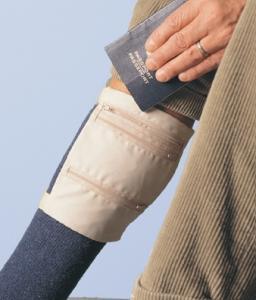 Hidden Pockets For Safe Traveling Leg